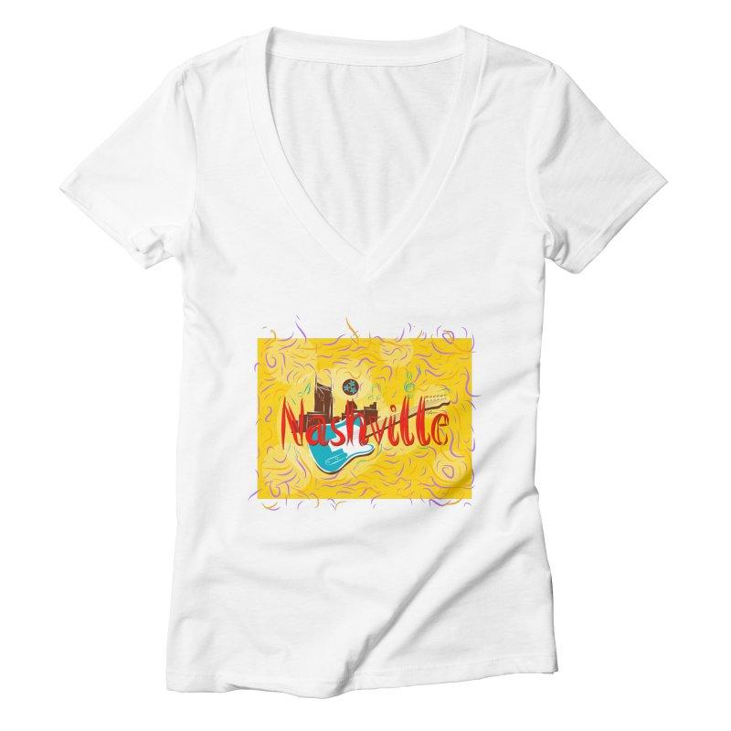 Nashville Women's V-Neck by VisualChipsters