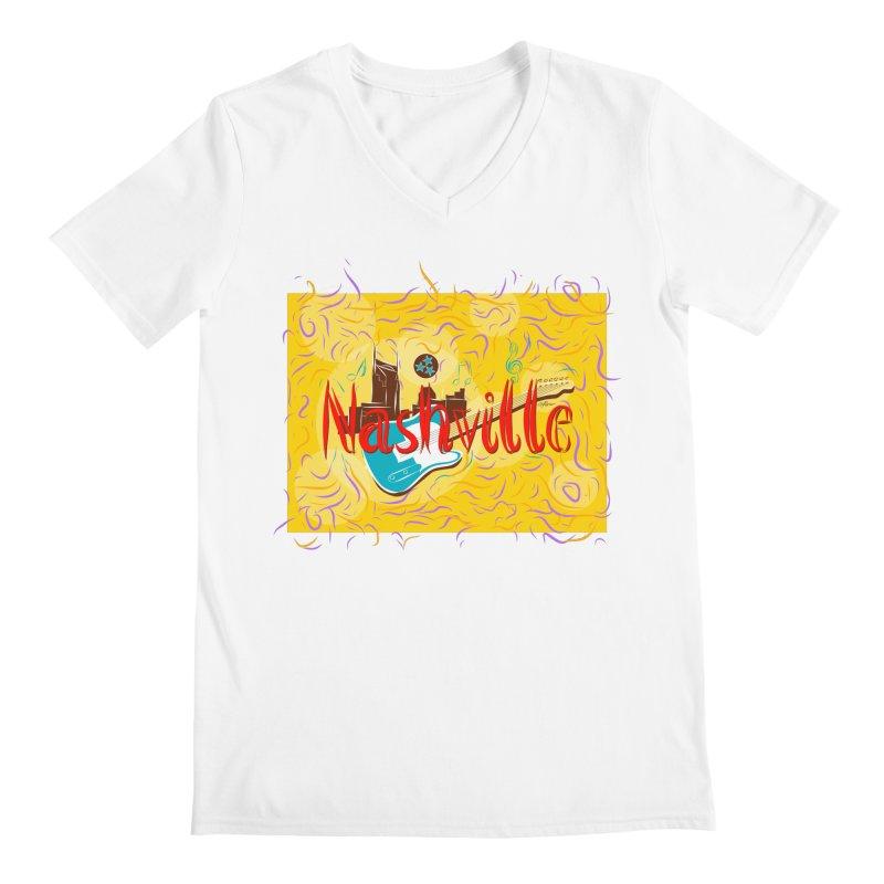 Nashville Men's V-Neck by VisualChipsters