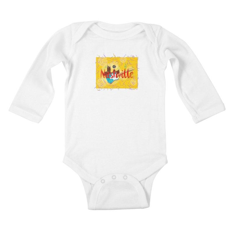 Nashville Kids Baby Longsleeve Bodysuit by VisualChipsters