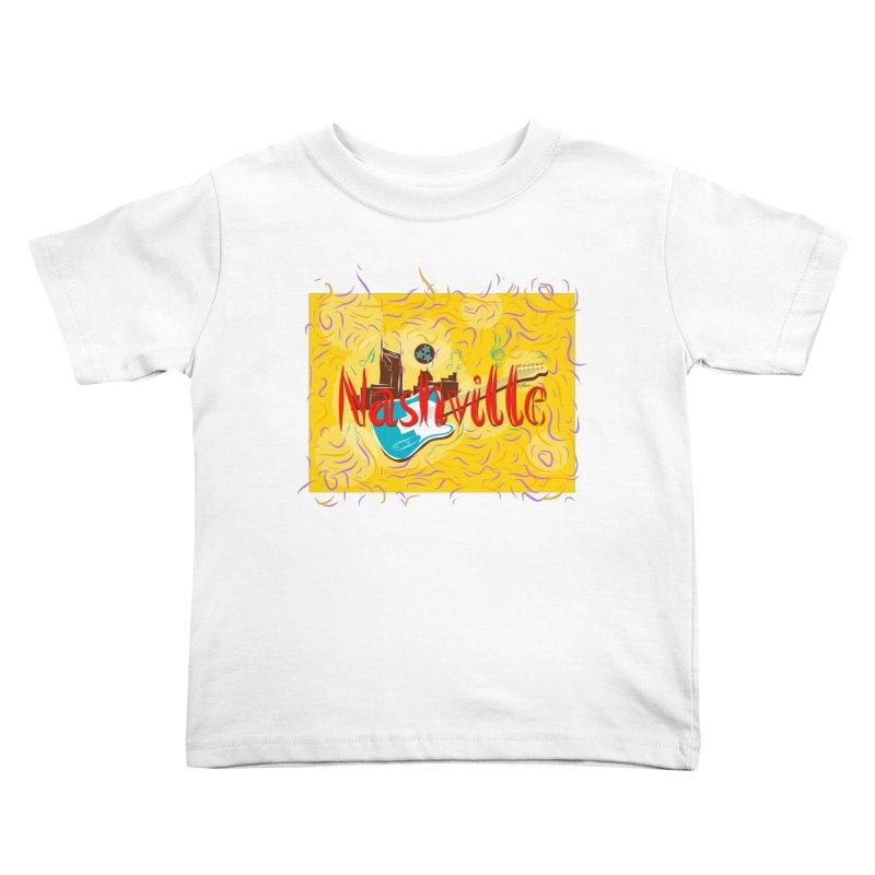 Nashville Kids Toddler T-Shirt by VisualChipsters