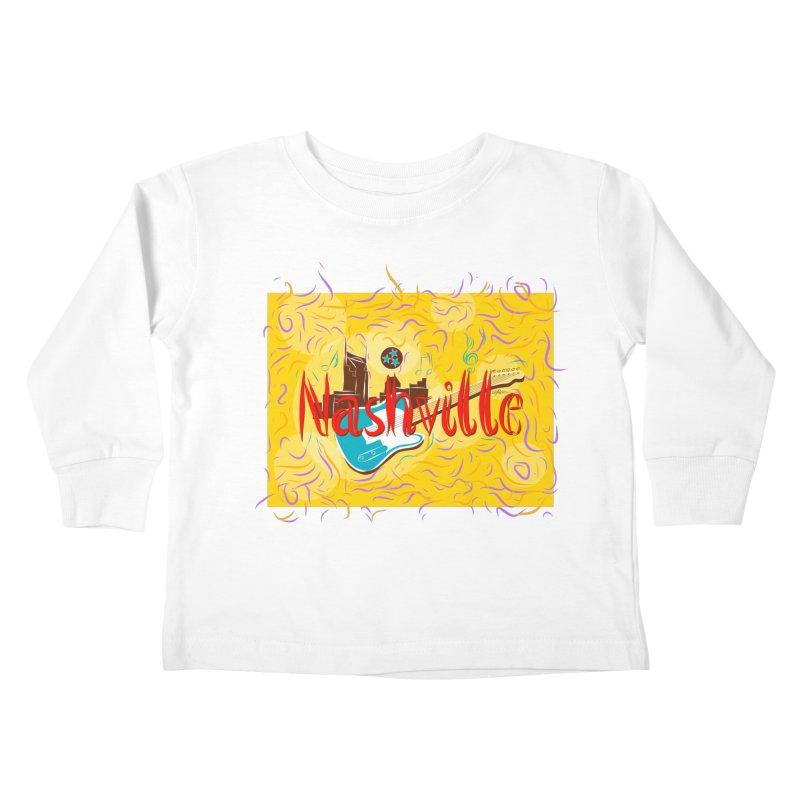 Nashville Kids Toddler Longsleeve T-Shirt by VisualChipsters