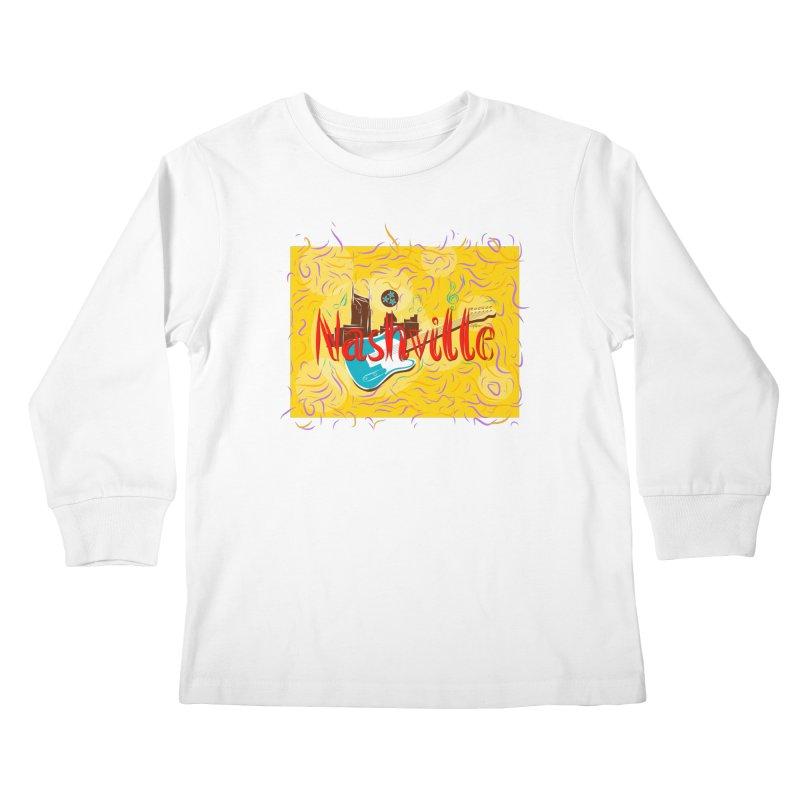 Nashville Kids Longsleeve T-Shirt by VisualChipsters