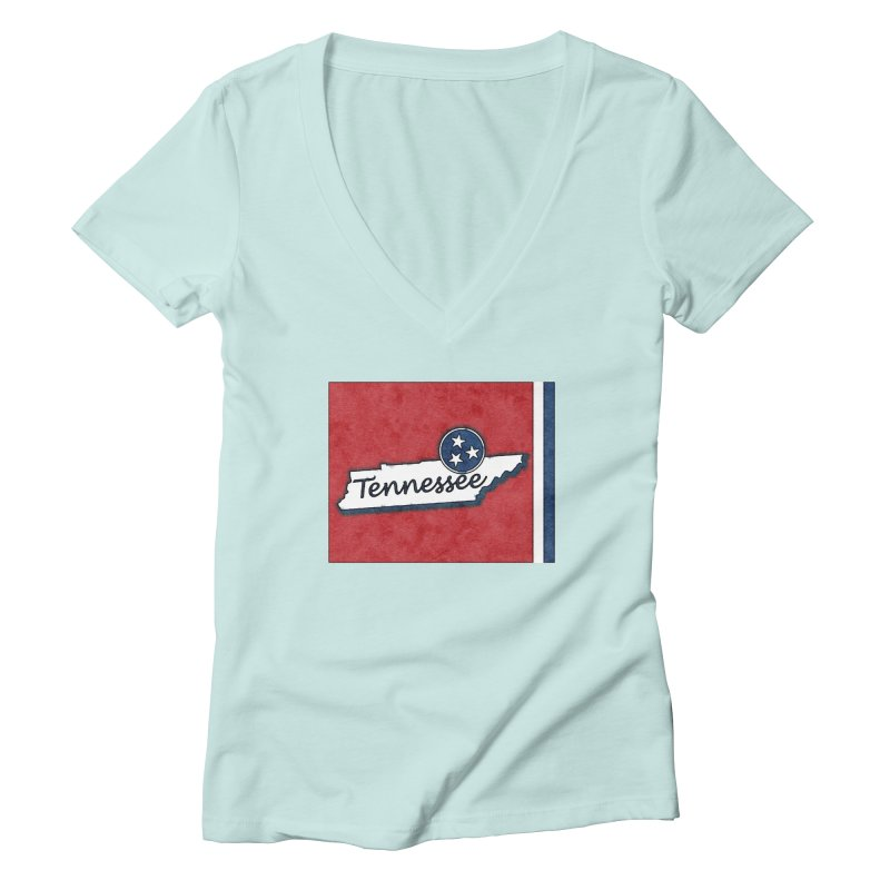 Tennessee Women's V-Neck by VisualChipsters