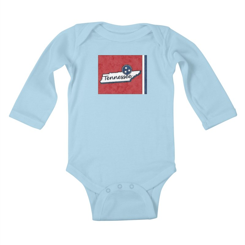 Tennessee Kids Baby Longsleeve Bodysuit by VisualChipsters