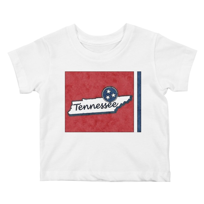 Tennessee Kids Baby T-Shirt by VisualChipsters