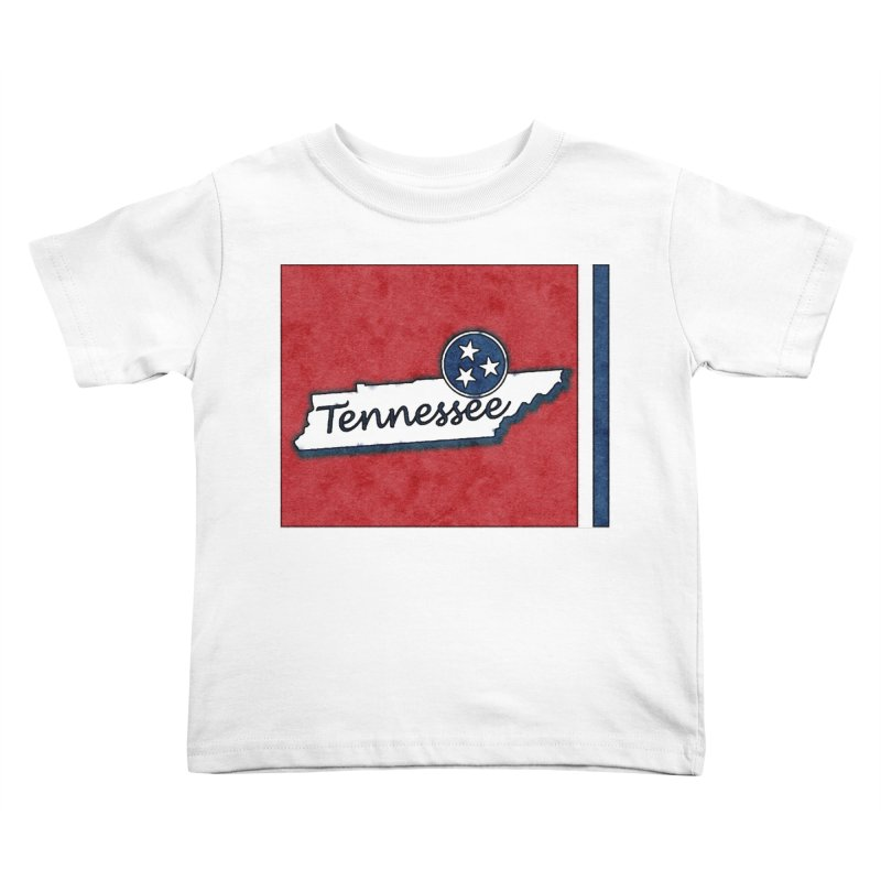Tennessee Kids Toddler T-Shirt by VisualChipsters