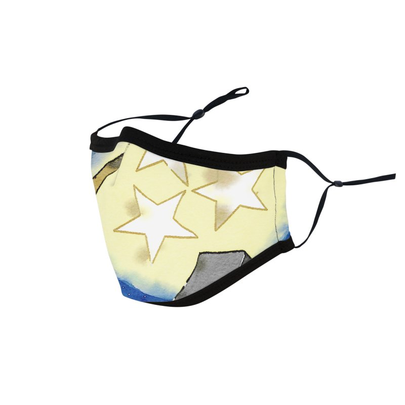 Tennessee Moon over Nashville Accessories Face Mask by VisualChipsters