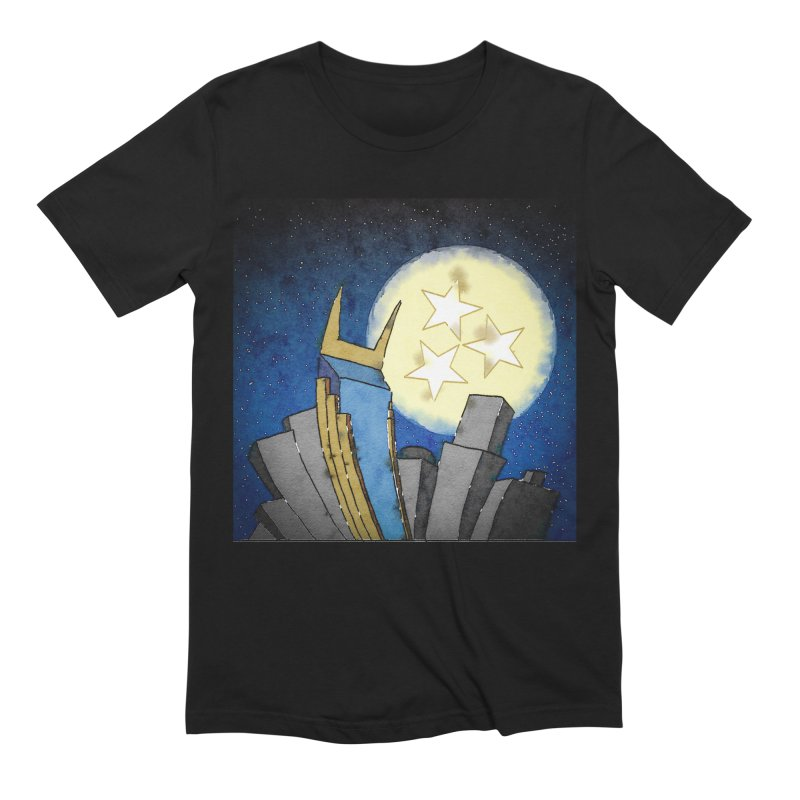 Tennessee Moon over Nashville Men's T-Shirt by VisualChipsters