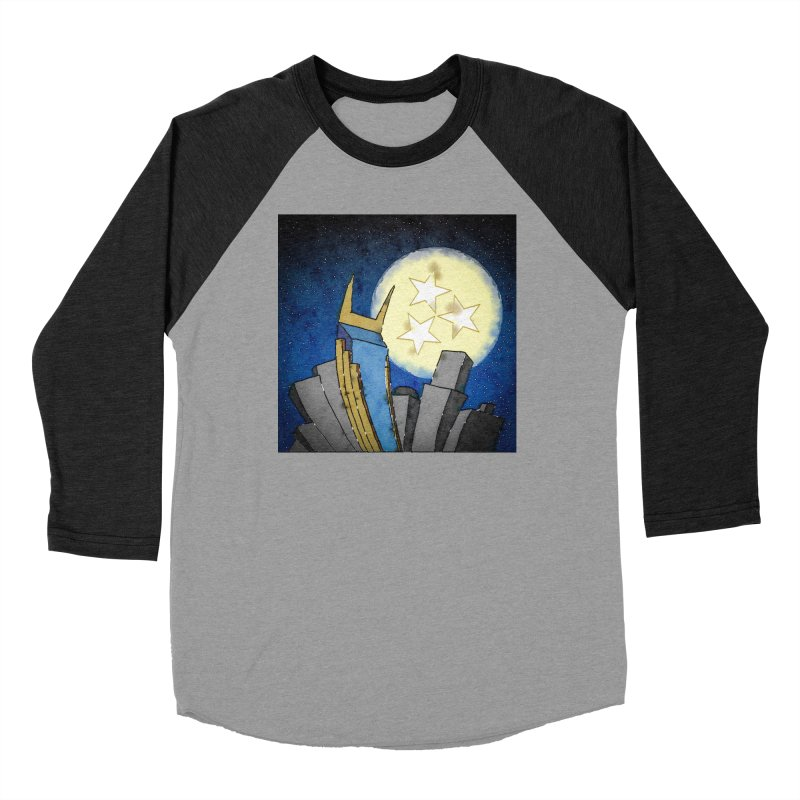 Tennessee Moon over Nashville Men's Longsleeve T-Shirt by VisualChipsters
