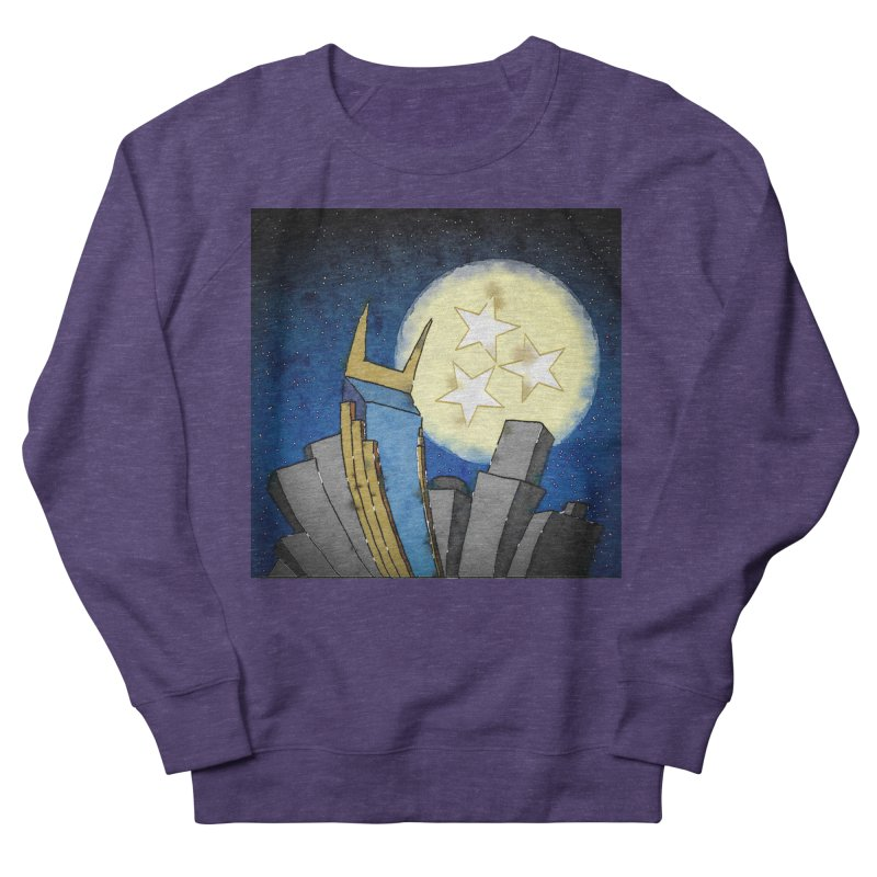 Tennessee Moon over Nashville Men's Sweatshirt by VisualChipsters