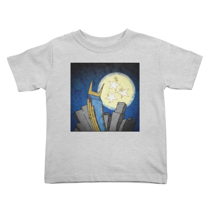 Tennessee Moon over Nashville Kids Toddler T-Shirt by VisualChipsters