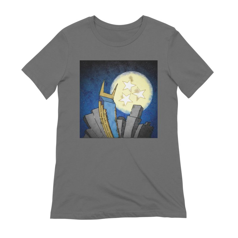 Tennessee Moon over Nashville Women's T-Shirt by VisualChipsters