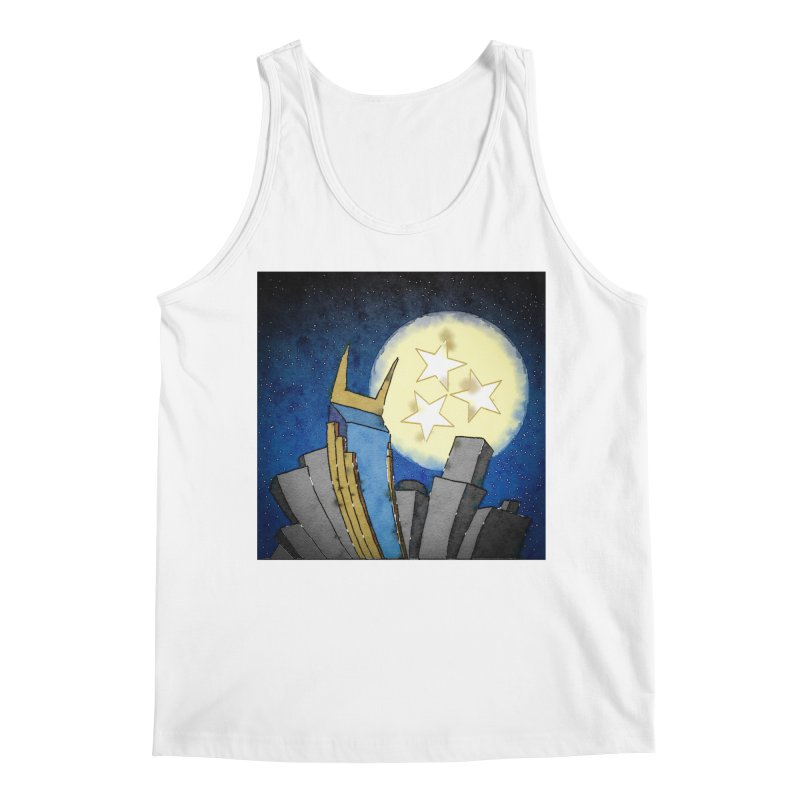 Tennessee Moon over Nashville Men's Tank by VisualChipsters