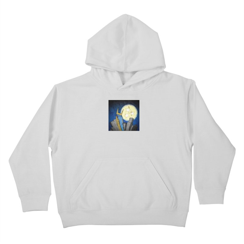 Tennessee Moon over Nashville Kids Pullover Hoody by VisualChipsters