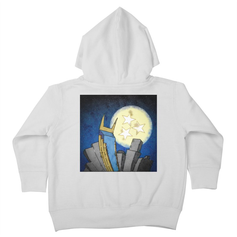 Tennessee Moon over Nashville Kids Toddler Zip-Up Hoody by VisualChipsters