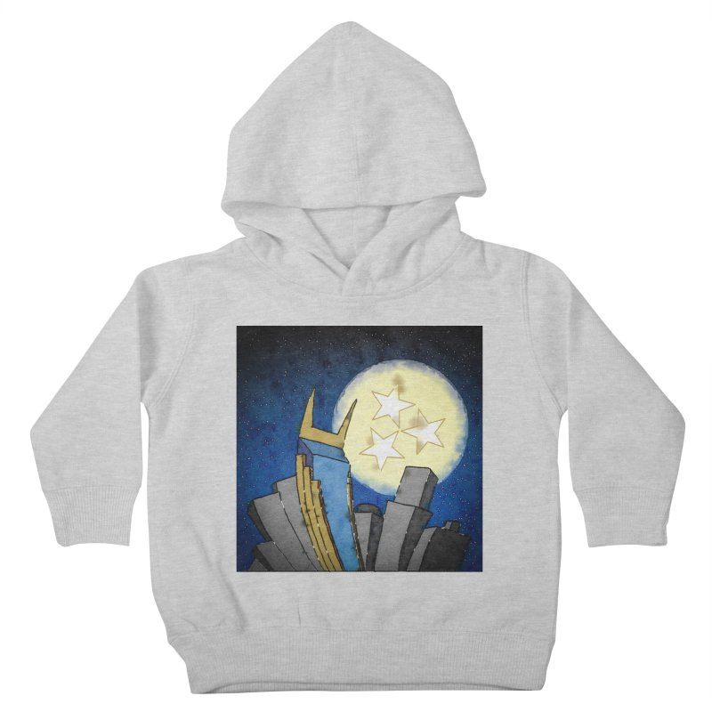 Tennessee Moon over Nashville Kids Toddler Pullover Hoody by VisualChipsters
