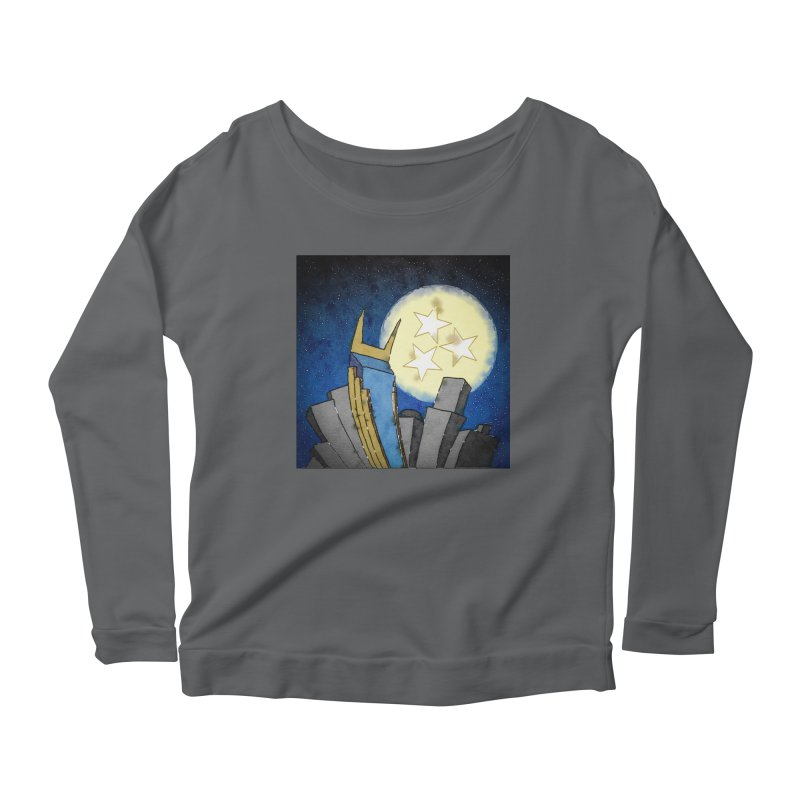 Tennessee Moon over Nashville Women's Longsleeve T-Shirt by VisualChipsters