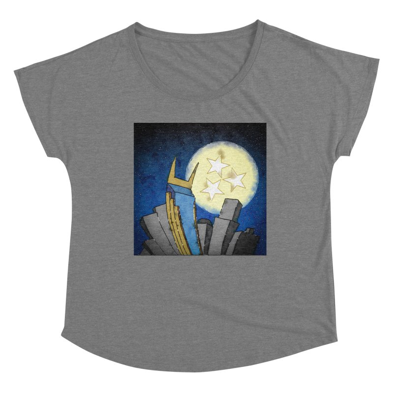 Tennessee Moon over Nashville Women's Scoop Neck by VisualChipsters