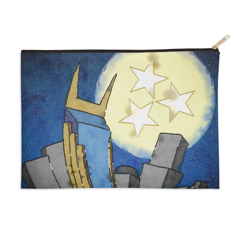 Tennessee Moon over Nashville Accessories Zip Pouch by VisualChipsters