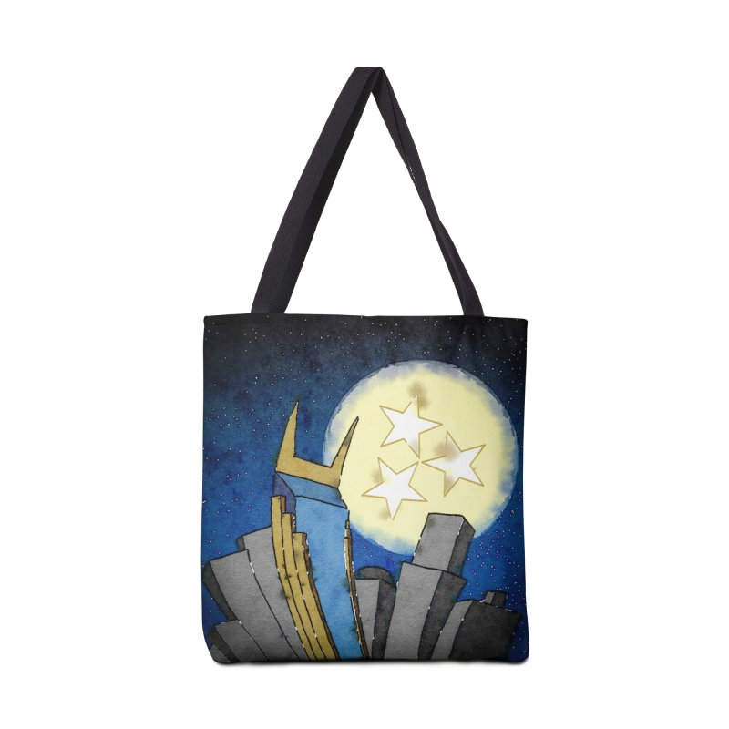 Tennessee Moon over Nashville Accessories Bag by VisualChipsters