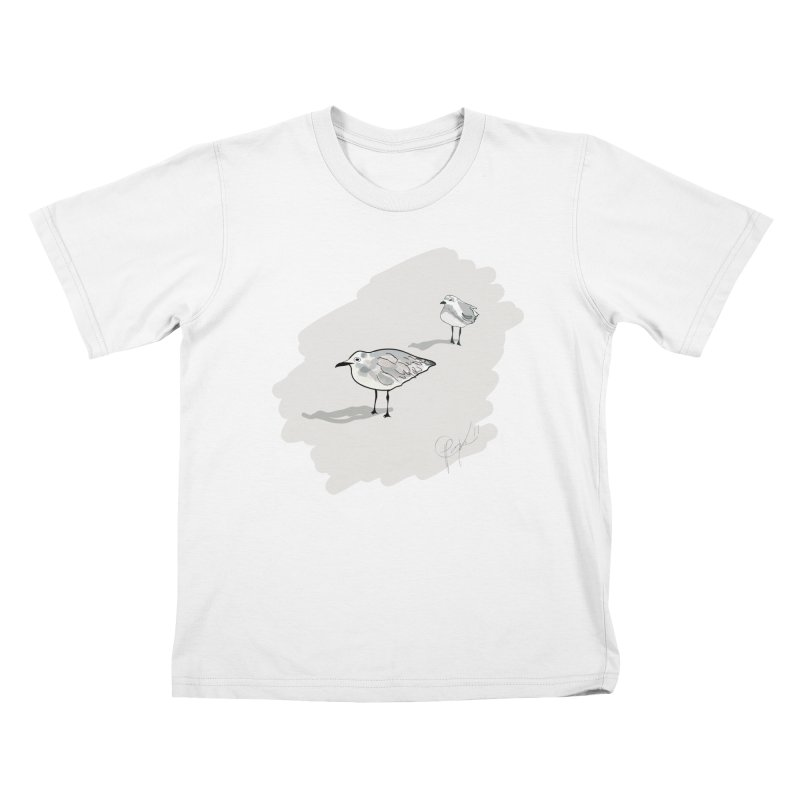 Seagulls Kids T-Shirt by VisualChipsters