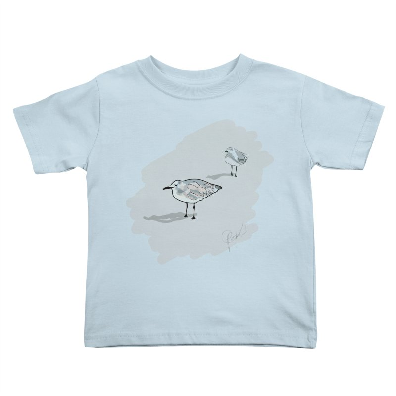 Seagulls Kids Toddler T-Shirt by VisualChipsters