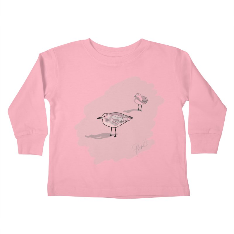 Seagulls Kids Toddler Longsleeve T-Shirt by VisualChipsters