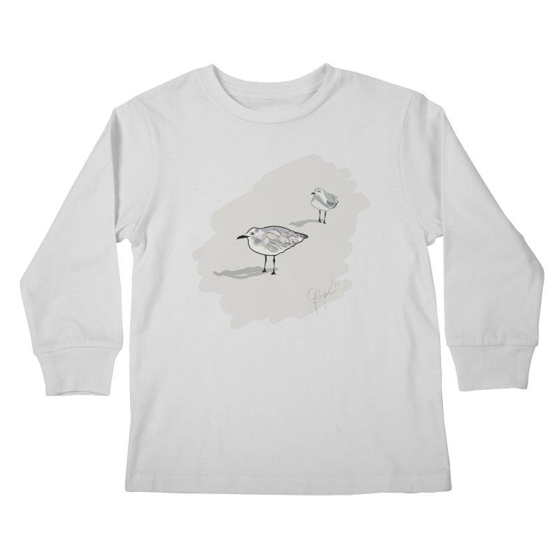 Seagulls Kids Longsleeve T-Shirt by VisualChipsters