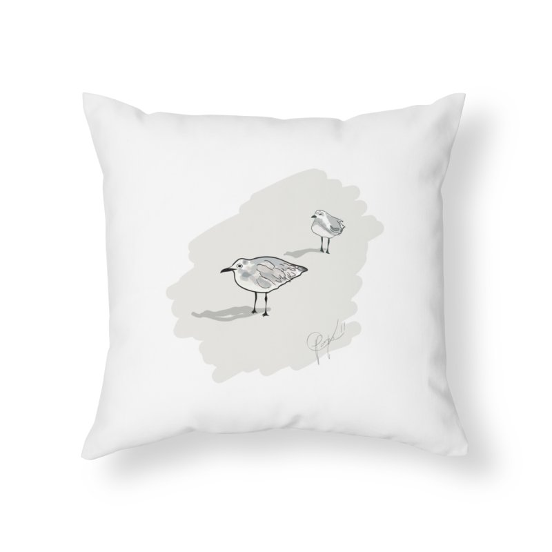 Seagulls Home Throw Pillow by VisualChipsters