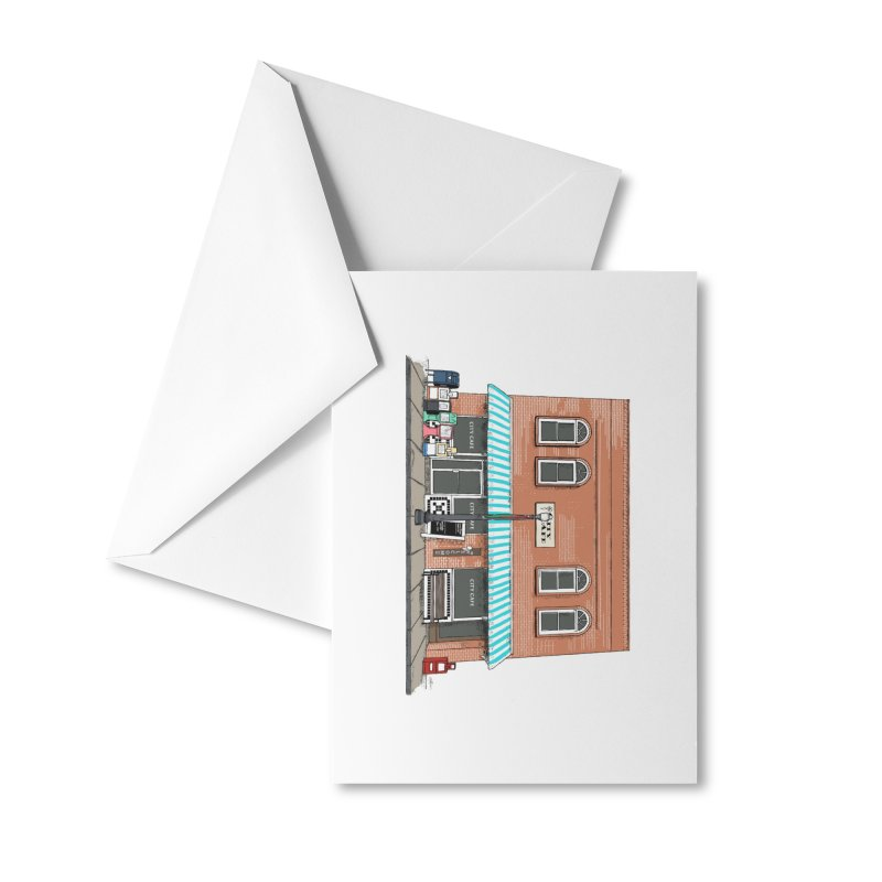City Cafe Accessories Greeting Card by VisualChipsters