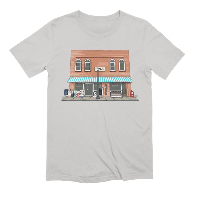 City Cafe Men's T-Shirt by VisualChipsters