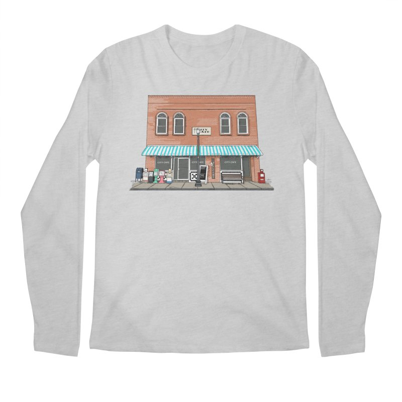 City Cafe Men's Longsleeve T-Shirt by VisualChipsters
