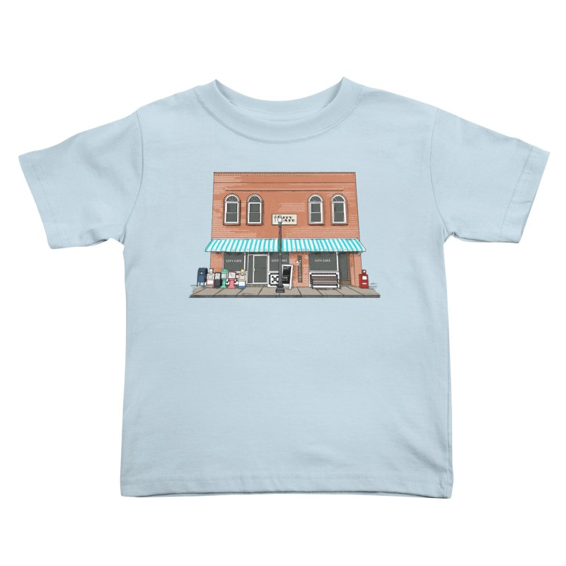 City Cafe Kids Toddler T-Shirt by VisualChipsters