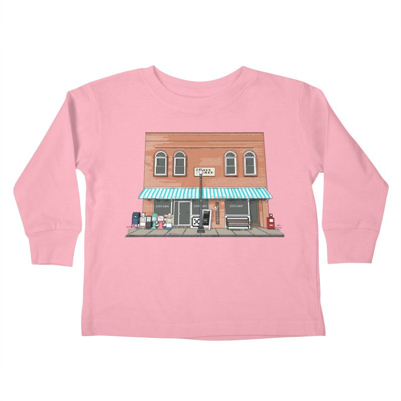 City Cafe Kids Toddler Longsleeve T-Shirt by VisualChipsters