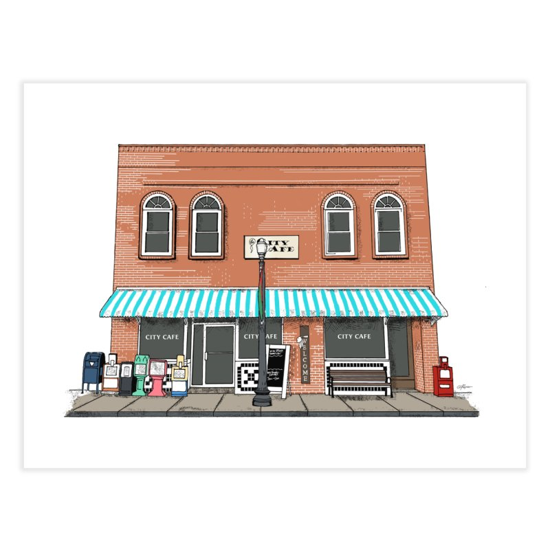 City Cafe Home Fine Art Print by VisualChipsters
