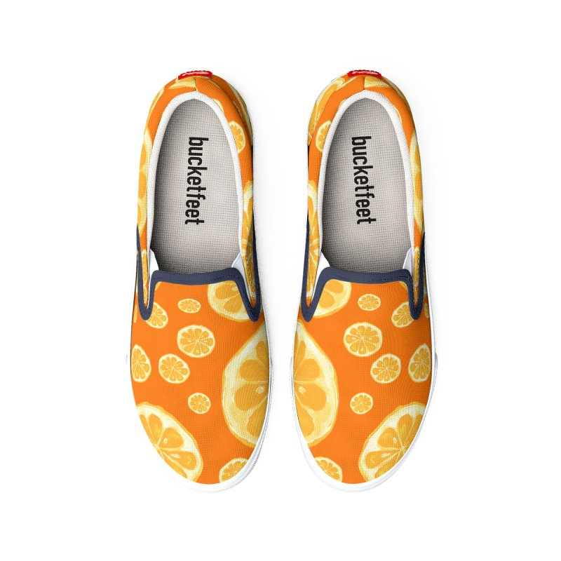 Orange You Happy Men's Shoes by VivaLaDoves's Artist Shop