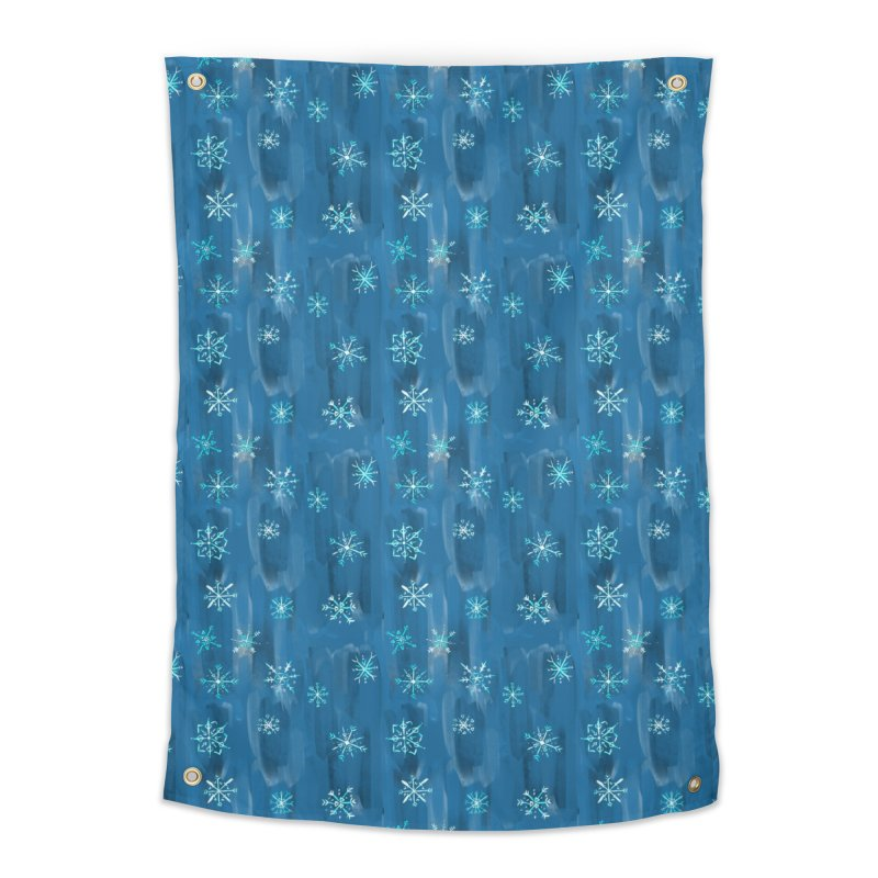 Blue Snowflakes in Tapestry by Vixtopher