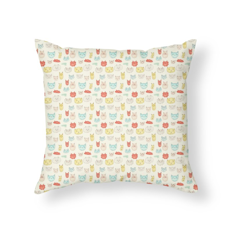 Just cats in Throw Pillow by Vixtopher