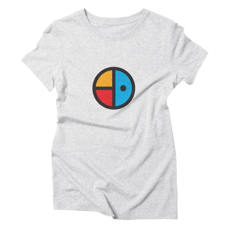 Iz & Diz Colors in Women's Triblend T-Shirt Heather White by Vizual Artist Shop