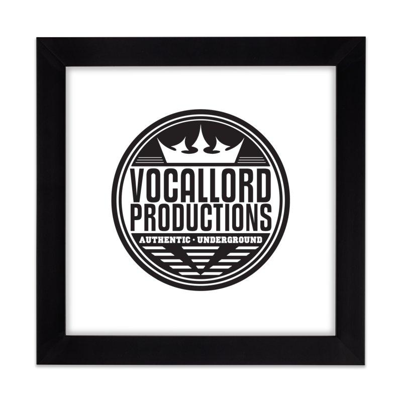 VocalLord Productions - Authentic Underground - Dark Logo Home Framed Fine Art Print by The VLP Vault