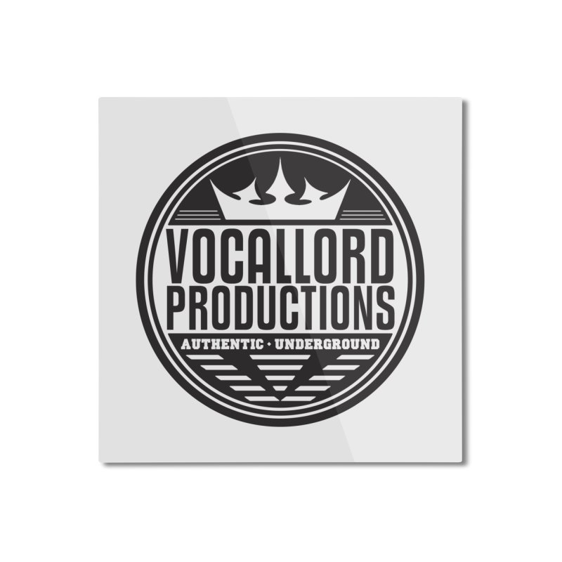 VocalLord Productions - Authentic Underground - Dark Logo Home Mounted Aluminum Print by The VLP Vault