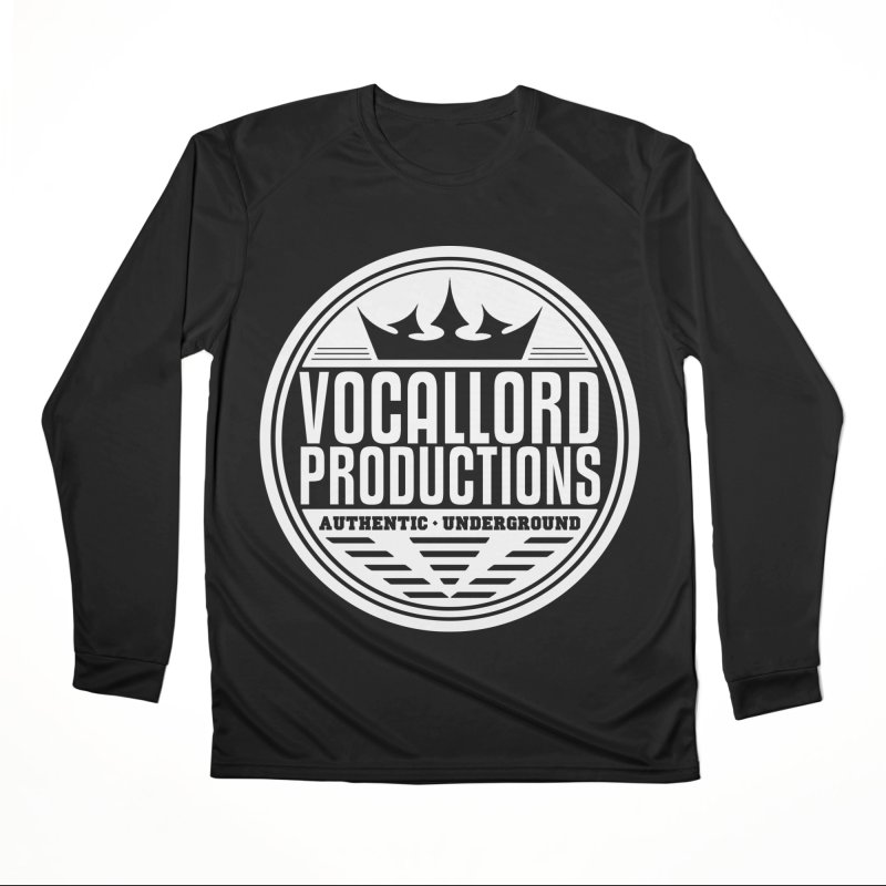 VocalLord Productions - Authentic Underground - White Logo Women's Longsleeve T-Shirt by The VLP Vault