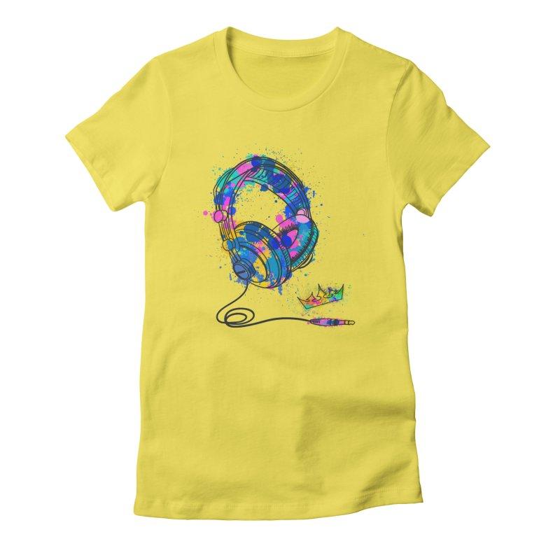 Headphones Women's T-Shirt by The VLP Vault