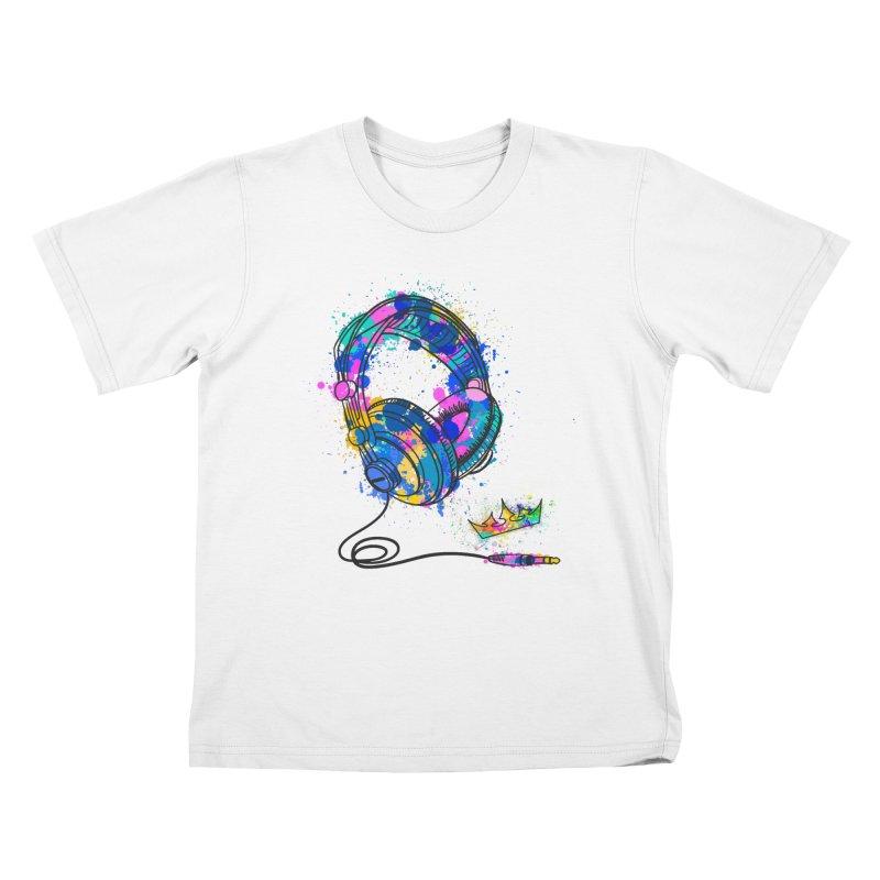 Headphones Kids T-Shirt by The VLP Vault