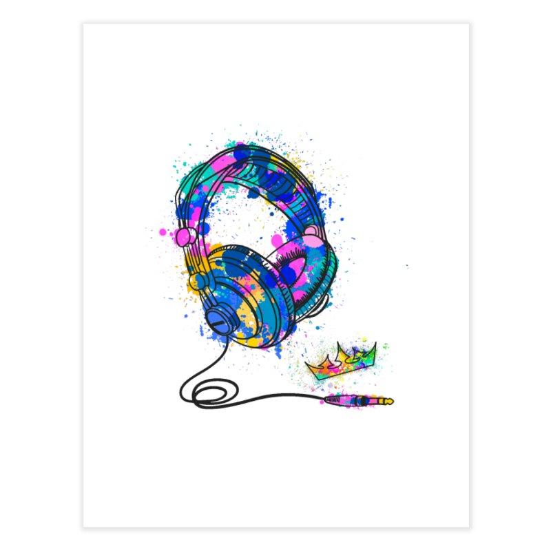 Headphones Home Fine Art Print by The VLP Vault