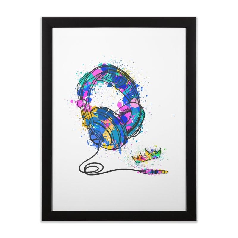 Headphones Home Framed Fine Art Print by The VLP Vault