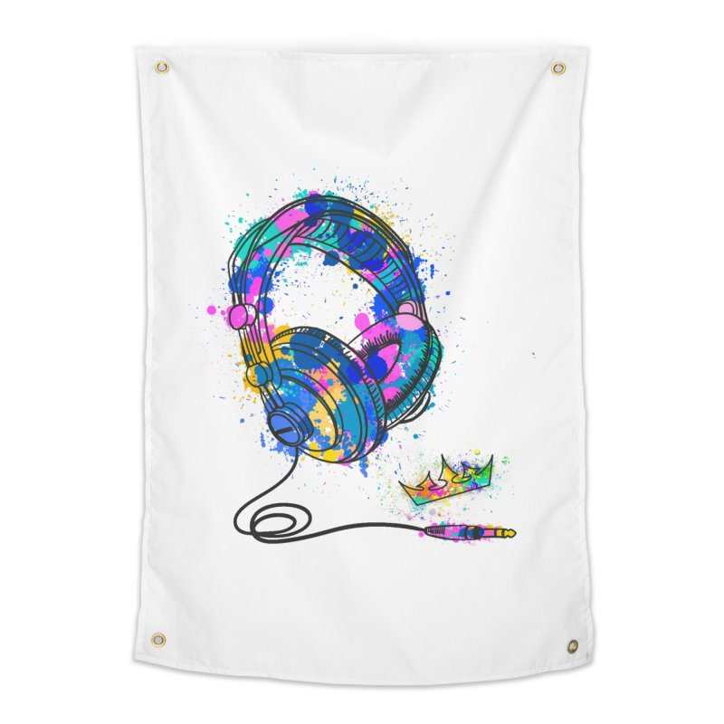 Headphones Home Tapestry by The VLP Vault