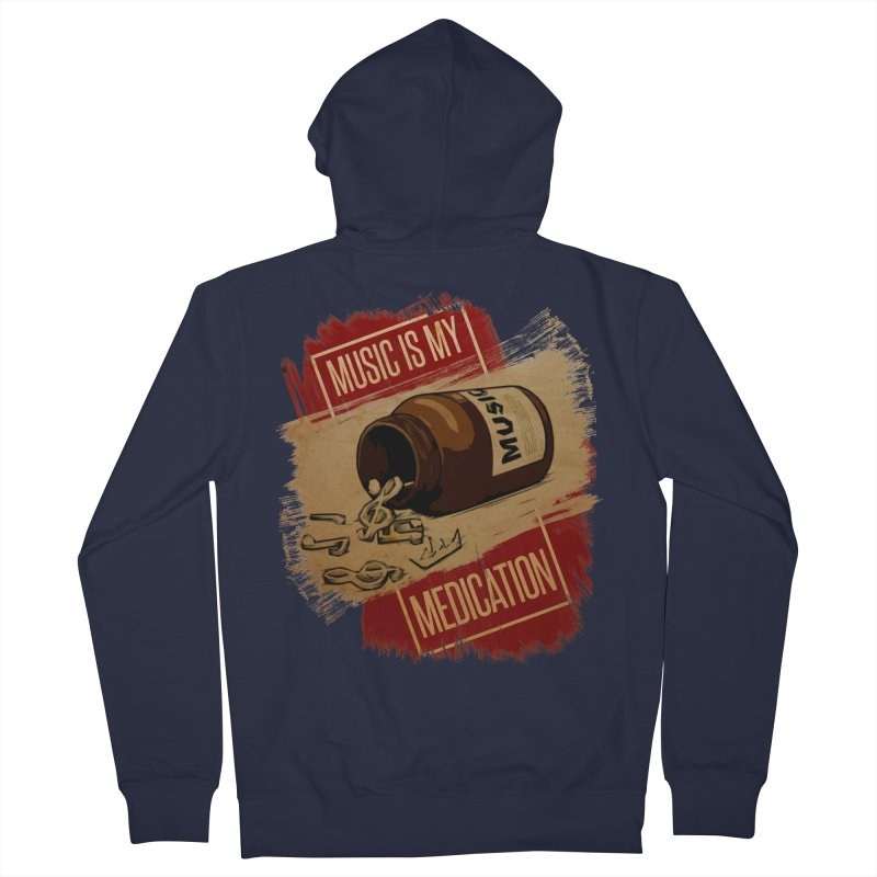 Music Is My Medication Women's Zip-Up Hoody by The VLP Vault