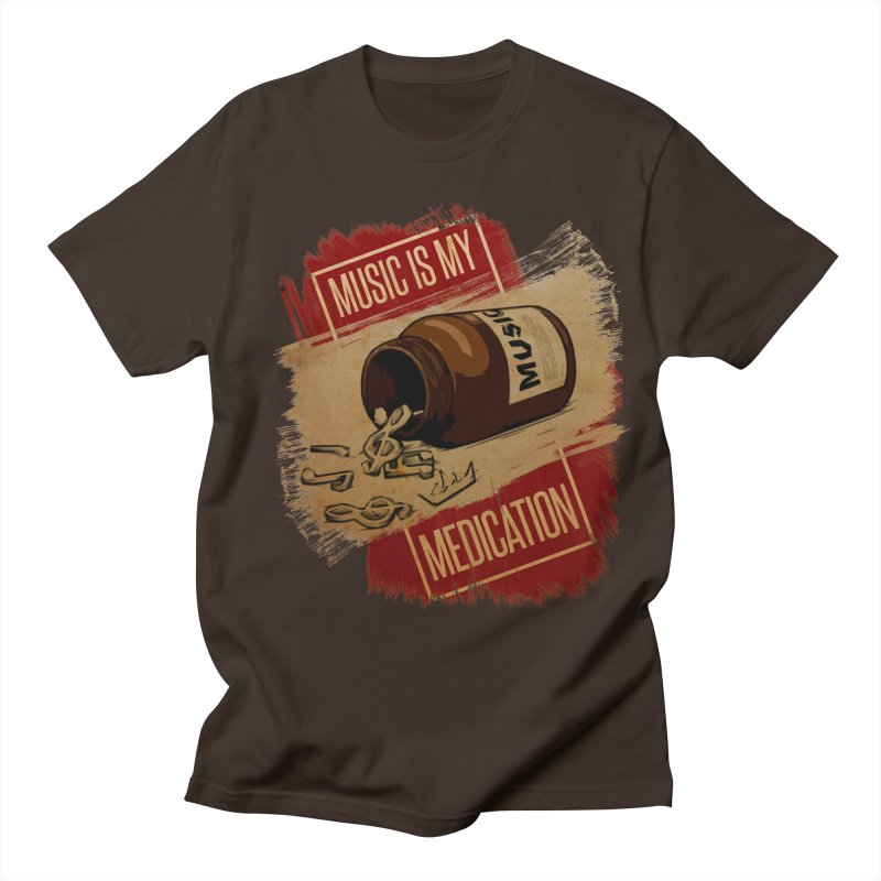 Music Is My Medication Men's T-Shirt by The VLP Vault