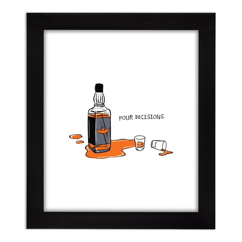 Pour Decisions Home Framed Fine Art Print by The VLP Vault